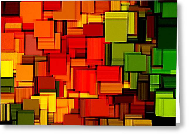 Carmine Greeting Cards - Summer Modern Abstract Art XVIII Greeting Card by Lourry Legarde