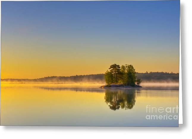 Summer Morning At 5.05  Greeting Card by Veikko Suikkanen