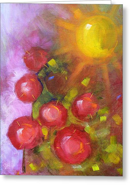 Abstract Expression Greeting Cards - Summer Morning Greeting Card by Nancy Merkle