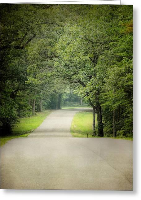 Summer Scene Greeting Cards - Summer Morning Stroll Greeting Card by Jai Johnson