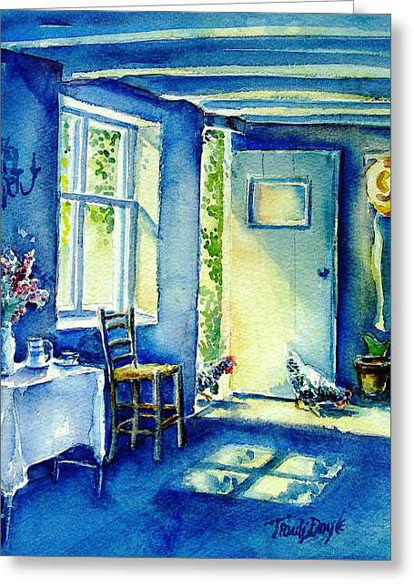 Summer Morning Visitors  Greeting Card by Trudi Doyle