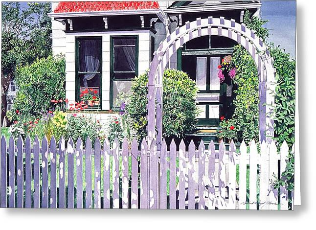 Picket Fence Greeting Cards - Summer Of 1927 Greeting Card by David Lloyd Glover