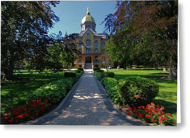 Virgin Mary Photographs Greeting Cards - Summer On Notre Dame Campus Greeting Card by Dan Sproul