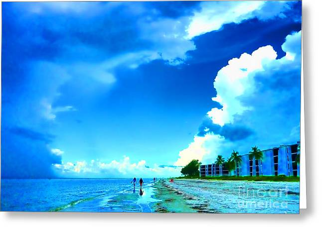 Couple On Beach Greeting Cards - Summer on Sanibel Island Greeting Card by Jeff Breiman