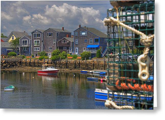 Summer On The Harbor Greeting Card by Joann Vitali