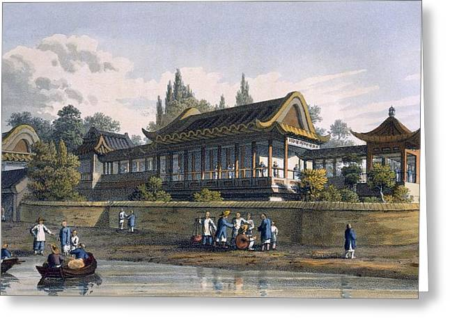 Summer Palace Of The Emperor, Opposite Greeting Card by English School