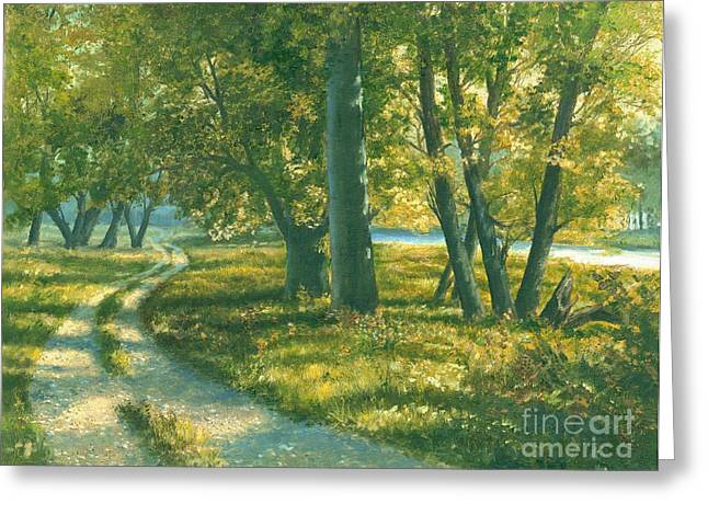 Summer Place Greeting Card by Michael Swanson