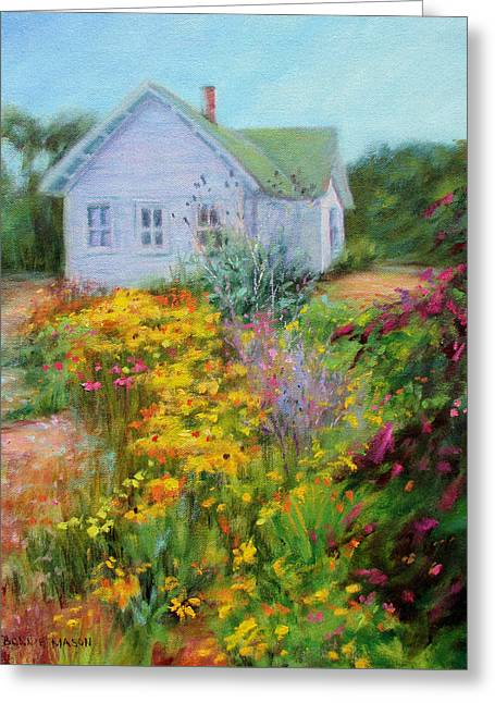 Garden Scene Greeting Cards - Summer Place- On the Outer Banks Greeting Card by Bonnie Mason