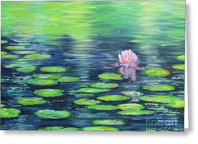 Summer Pond Greeting Card by Sian Lorraine
