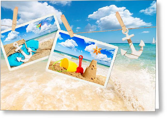 Sandcastle Greeting Cards - Summer Postcards Greeting Card by Amanda And Christopher Elwell