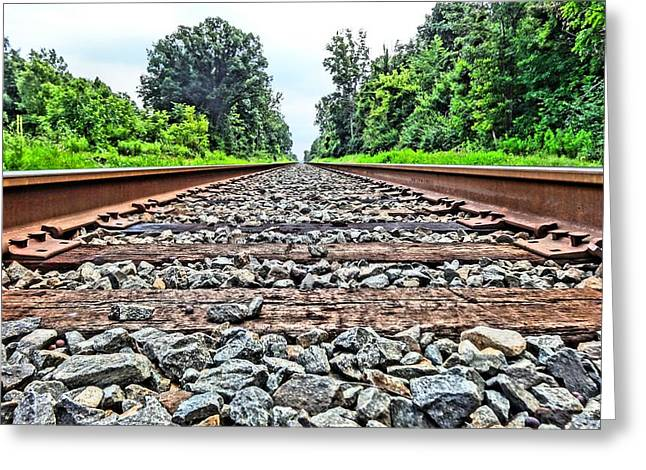 Great Mysteries Photographs Greeting Cards - Summer Railroad Tracks Greeting Card by Dan Sproul