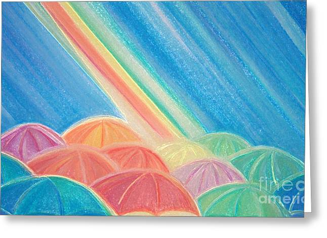 Youth Pastels Greeting Cards - Summer Rain by jrr Greeting Card by First Star Art
