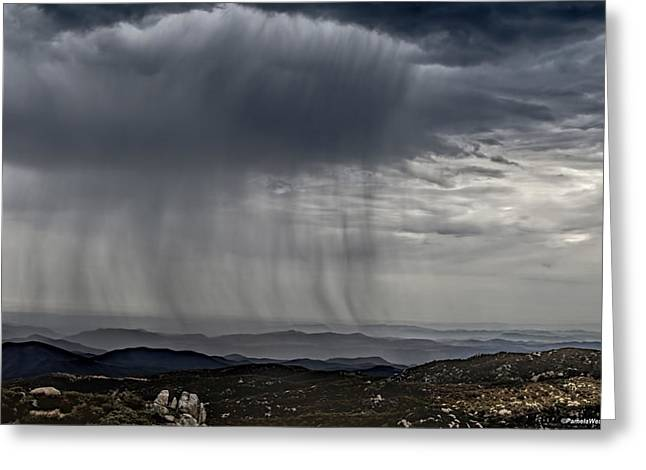 Summer Squall Greeting Cards - Summer rain squalls Greeting Card by Pamela Weston