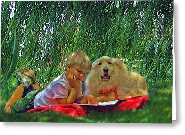 Summer Reading Greeting Card by Jane Schnetlage