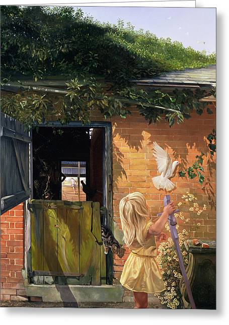 Gutter Greeting Cards - Summer Reflection Greeting Card by Timothy  Easton