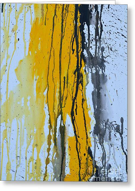 Ismeta Greeting Cards - Summer Rein 1 - Abstract Greeting Card by Ismeta Gruenwald