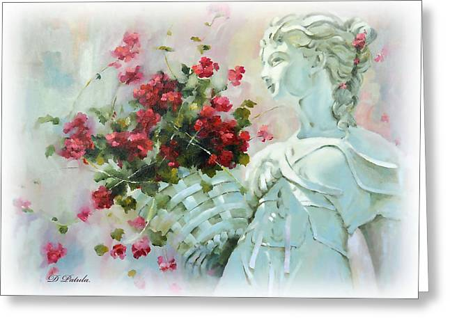 Garden Statuary Greeting Cards - Summer Reverie Greeting Card by Dianne Patula