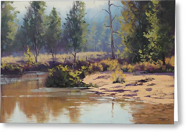 River Paintings Greeting Cards - Summer River  Greeting Card by Graham Gercken