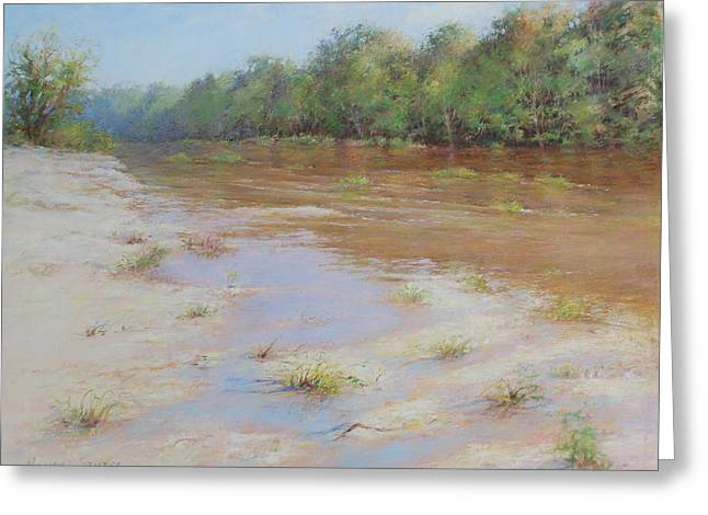 Reproduction Greeting Cards - Summer River Greeting Card by Nancy Stutes