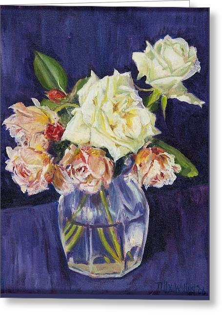 Summer Roses Greeting Card by Tilly Willis