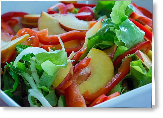 Justin Woodhouse Greeting Cards - Summer Salad Greeting Card by Justin Woodhouse