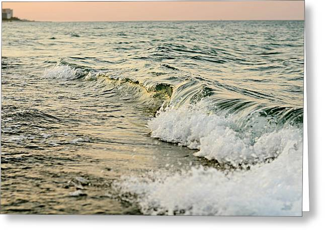 Sunset Seascape Greeting Cards - Summer Sea Greeting Card by Laura  Fasulo
