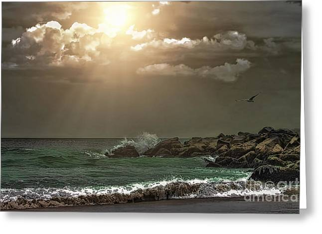 York Beach Greeting Cards - Summer Serenity Greeting Card by Tom York Images