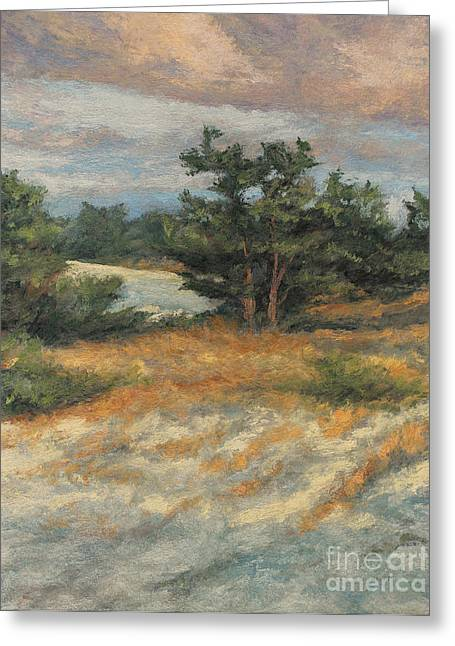 Gregory Arnett Paintings Greeting Cards - Summer Shadows - Provincetown Greeting Card by Gregory Arnett