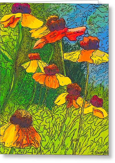 Vivid Colour Drawings Greeting Cards - Summer Sketch Greeting Card by Jo-Anne Gazo-McKim