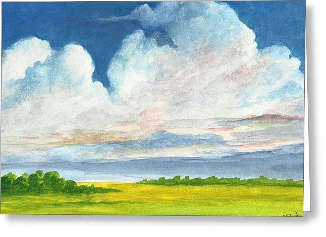 Summer Storm Paintings Greeting Cards - Summer Skies Greeting Card by David G Paul