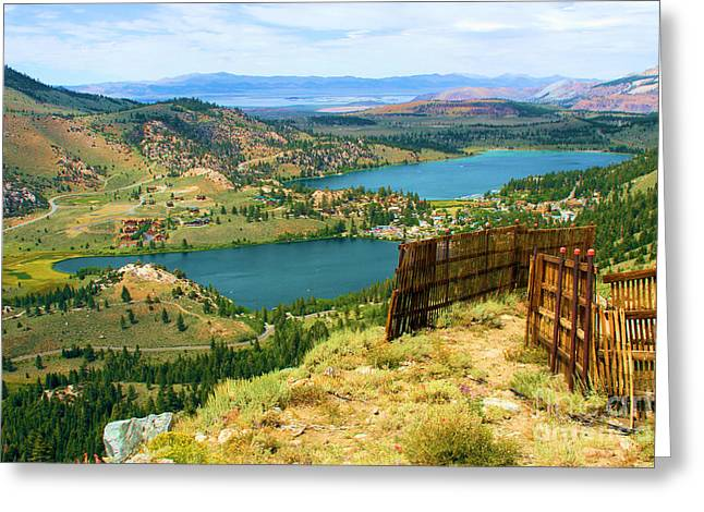 Chairlift Greeting Cards - Summer Snow Fence Greeting Card by Adam Jewell