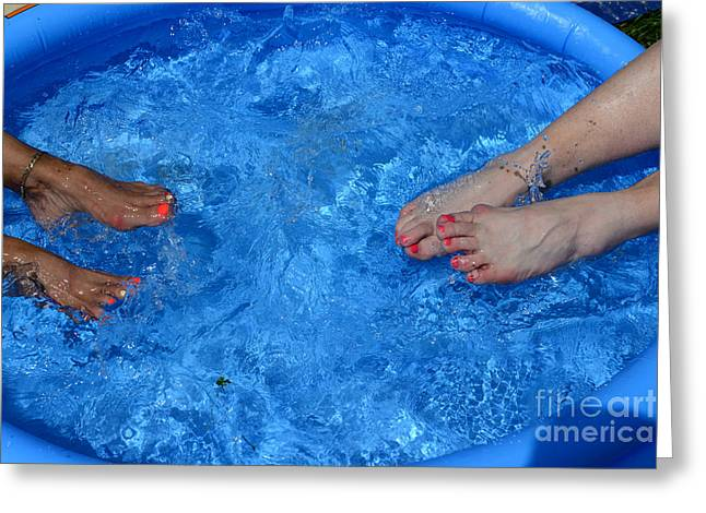 Cooling Off Greeting Cards - Summer Splash Greeting Card by Paul Ward