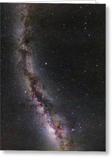 Summer Stars Without Light Pollution Greeting Card by Eckhard Slawik