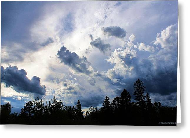 Agate Beach Greeting Cards - Summer Storm Clouds Greeting Card by Paul Berish
