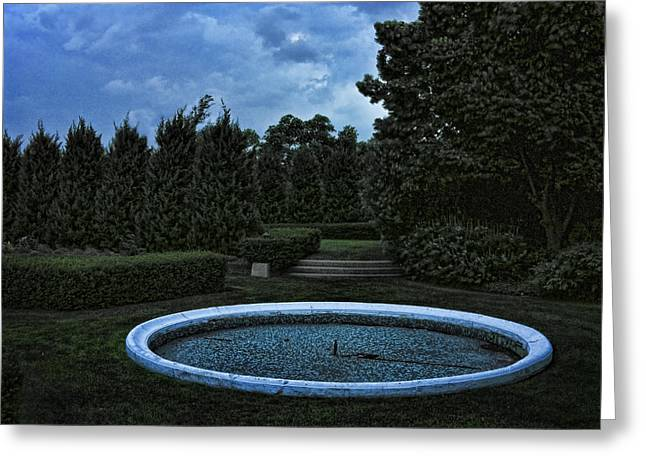 Summer Storm Coming Bahai Temple Greeting Card by John Hansen