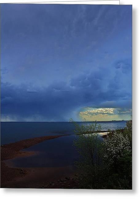 Agate Beach Greeting Cards - Summer Storm I Greeting Card by Paul Berish