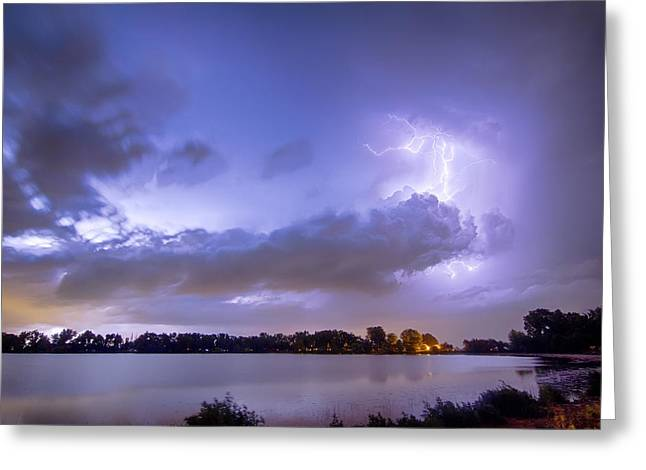 Storm Prints Greeting Cards - Summer Storm Greeting Card by James BO  Insogna