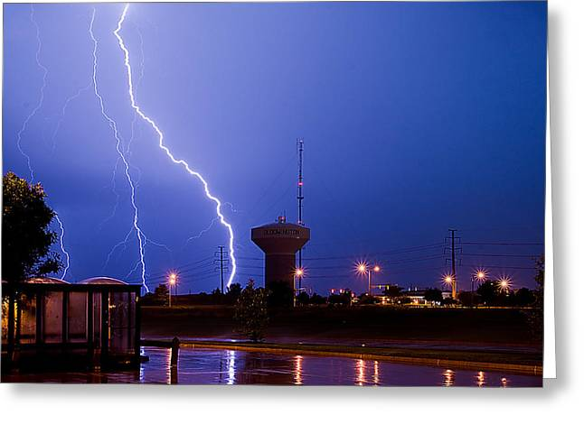 Lightning Photographer Greeting Cards - Summer Storm Greeting Card by Jim Finch
