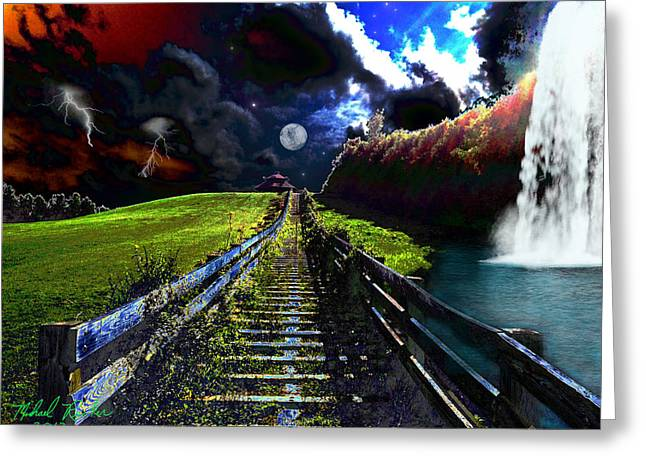 Summer Storm Greeting Card by Michael Rucker