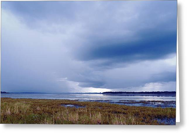 Summer Storm Photographs Greeting Cards - Summer Storm Over the Lake Greeting Card by Skip Nall