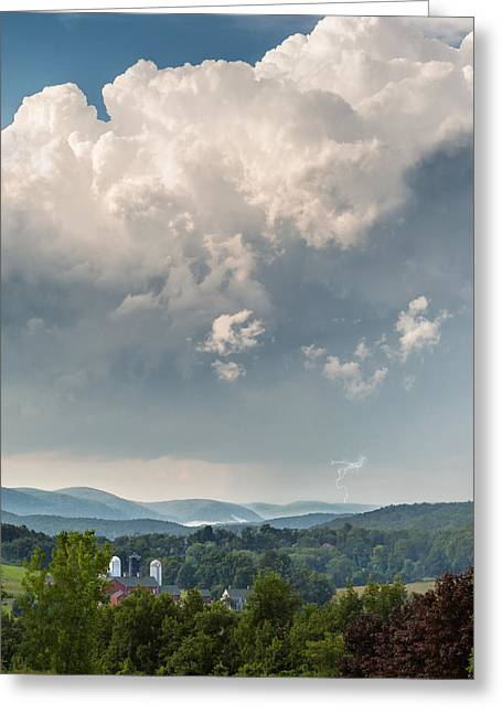 Summer Storm Greeting Cards - Summer Storm Square Greeting Card by Bill  Wakeley