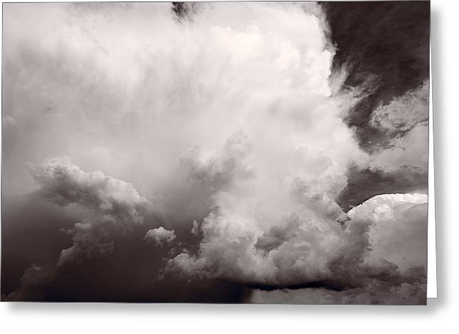 Storm Clouds Greeting Cards - Summer Storm Greeting Card by Steve Gadomski
