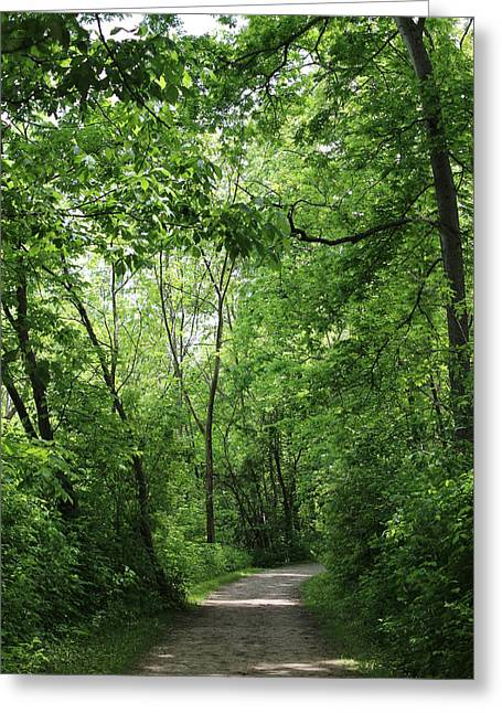 Stroll In The Park Greeting Cards - Summer stroll in the park Greeting Card by Ashley  Mechling