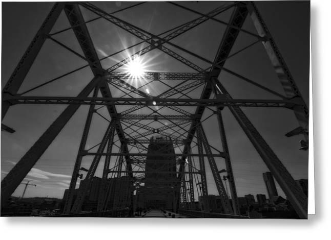 Summer Sun On Shelby Street Bridge Greeting Card by Dan Sproul