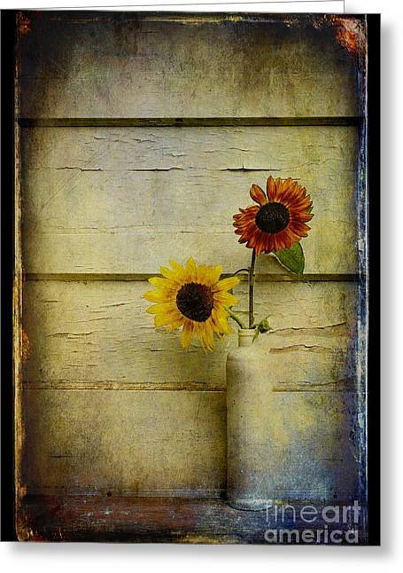 Best Sellers -  - Yellow Sunflower Greeting Cards - Summer Sunflowers Greeting Card by Sari Sauls