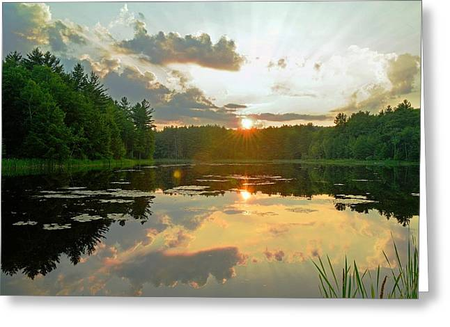 Garfield County Greeting Cards - Summer Sunset in Berkshire County Greeting Card by Geoffrey Coelho