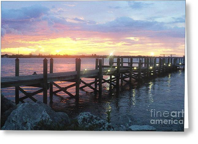St. Lucie County Greeting Cards - Summer Sunset Greeting Card by Megan Dirsa-DuBois