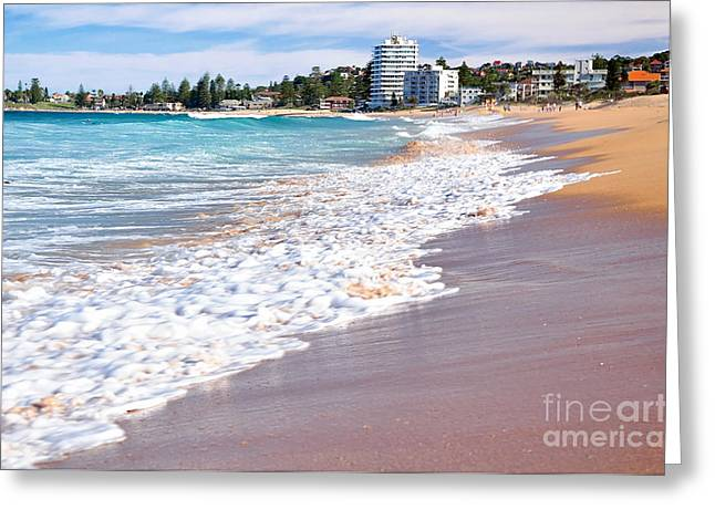 Breaking Surf Greeting Cards - Summer Sunshine on the Waves Greeting Card by Kaye Menner