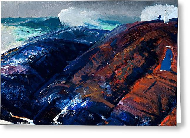 Bravery Greeting Cards - Summer Surf Greeting Card by George Wesley Bellows