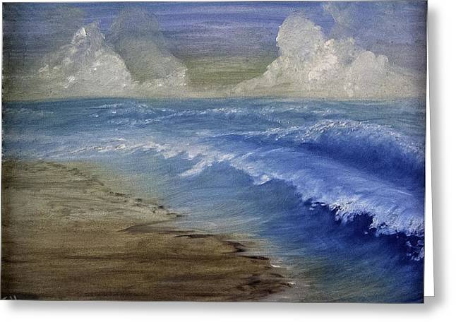 Summer Surf Greeting Card by Judy Hall-Folde